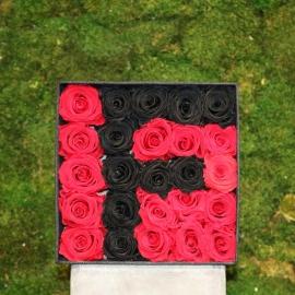 Scatola di Rose stabilizzate