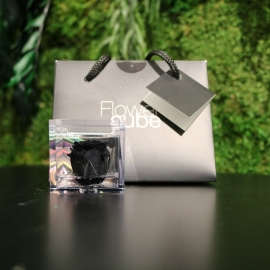 MINI FLOWERCUBE CM4,5X4,5 ROSA PRECIOUSE NERO+SHOPPER