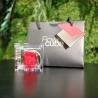 MINI FLOWERCUBE CM4,5X4,5 ROSA PRECIOUSE ROSSO+SHOPPER