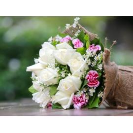 Bouquet Rose e dianthus