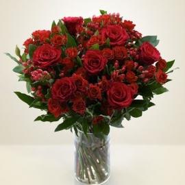 Bouquet rose rosse mix