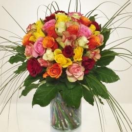 Bouquet rose multicolore