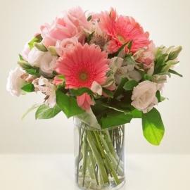 Bouquet rose alstromeria