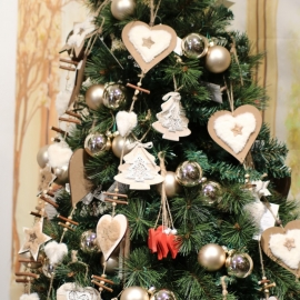 80cm GARLAND-STAR/HEART/TREE