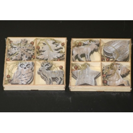 14X2.5CM HANGING 4STYLE-BOX/12pz 2Kit Grey