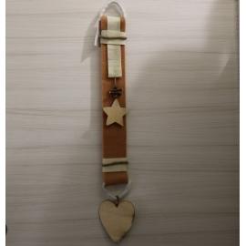 Dietroporta cotone con cuore legno
