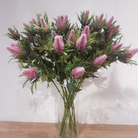SEA HOLLY SPRAY X 3 Pink