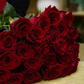 Rose Rosse Stelo Lungo 30 steli