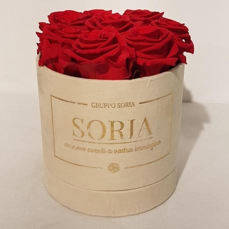 Scatola Soria con rose stabilizzate