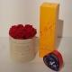 Magic moment Scatola (Flower box) con rose stabilizzate