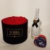Magic moment Scatola tonda D.25 (Flower box) con rose stabilizzate