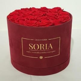 Scatola (Flower box) con rose stabilizzate d.25