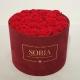 Scatola (Flower box) con rose stabilizzate