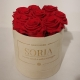 Scatola (Flower box) con rose Fresche