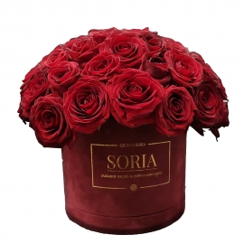 Scatola (Flower box) con 70 Rose Fresche D.15