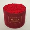 Scatola (Flower box) con rose stabilizzate d.30