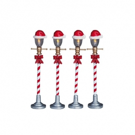 Santa Hat Street Lamp Set of 4 (Lampioni stradali)