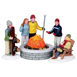 FIRE PIT SET OF 5 (Falò sulla neve)
