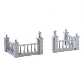Lemax-Plaza Fence Set Of 4