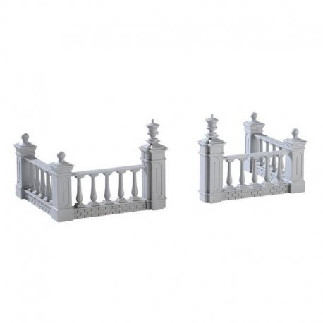 LEMAX-Plaza Fence set of 4