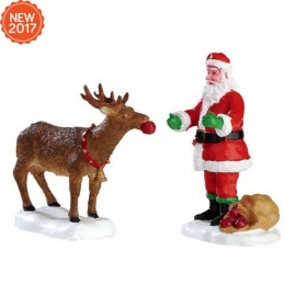 LEMAX-REINDEER TREATS SET OF 2