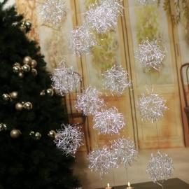 1.8M serie luci led con sfera in filo di ferro