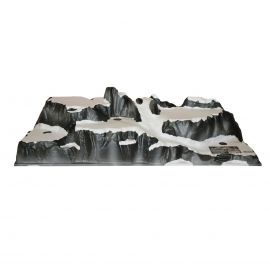 Paesaggio, Villagio di Montagna 120x40 cm