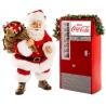 B/O SANTA COKE MACHINE+LIT SIGN 2PC