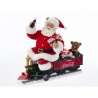 "13""B/O COKE SANTA TRAIN W/LED GRLND"
