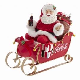 """10"""" Babbo Natale in slitta Coca-Cola - 10""""COCA-COLA SANTA IN SLEIGH TBLPC"""