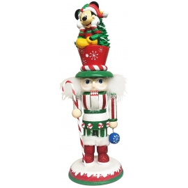 "14""HOLLY WOOD MICKEY NUTCRACKER"