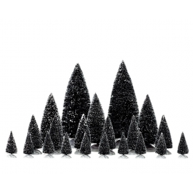 Lemax-Assorted Pine Trees Set Of 21