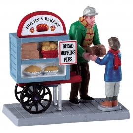 Lemax-Delivery Bread Cart