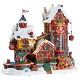 Lemax-Elf Made Toy Factory