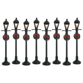 Lemax-Gas Lantern Street Lamp Set Of 8