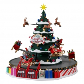 Lemax-Santa's Sleigh Spinners