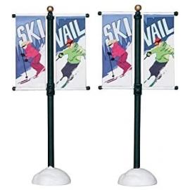 Lemax-Street Pole Banner Set Of 2