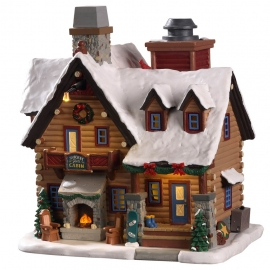 Lemax-Thicket Falls Cabin