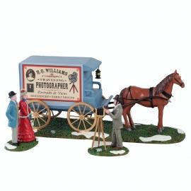 Lemax-Traveling Photographer Wagon Set Of 3