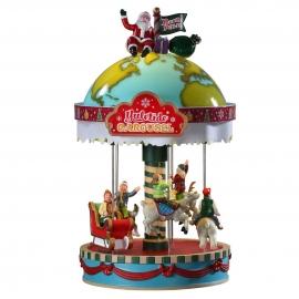 Lemax-Yuletide Carousel