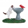 Lemax-Bird Bath Dog Fountain