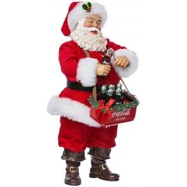 """10.5"""" Babbo Natale con carello di consegna Coca-Cola - Kurt S. Adler"""