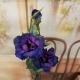 "25"" LISIANTHUS SPRAY,2F,2B-purple/blue"