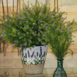 MINI FLOWER/LEAF BUSH-purple