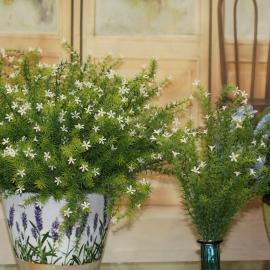 MINI FLOWER/LEAF BUSCH-white
